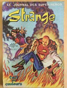 STRANGE N°48 E.O. Editeur LUG décembre 1973 X-men Bon Etat