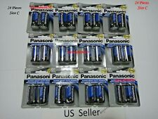 Wholesale lot 24 Pcs Panasonic size C Battery heavy Duty Battery 1.5v US Seller