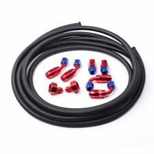 An6 6an Fitting Stainless Steel Nylon Braided Oil Fuel Hose Line 12ft Kit