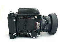 Mamiya RB67 Pro S con lente de 127mm 3.8, control remoto y Polaroid Back-Impresionante