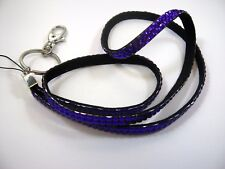 Collectible Keychain: Purple Jewel Long Strap Design
