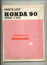 Honda 90 C200 (1963-1966) Factory Parts List Catalogue Book Manual CA 200 BS86