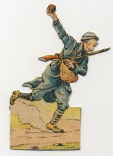 IMAGE CARD DECOUPIS WWI 14 18 TROUPES COLONIALES  INFANTERIE COLONIALE GRENADE