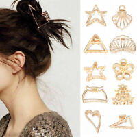 Fashion Women Hair Claw Clip Geometric Hairpin Crab Retro Hair Clips Hair Claw
