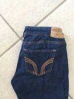 Women's Hollister Jeans Super Skinny Dark Stretch Size 3 R W26 L31 Nice 592