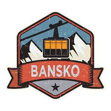 2 x 10cm Cool Bansko Bulgaria Ski Vinyl Stickers - Sticker Laptop Luggage #19513