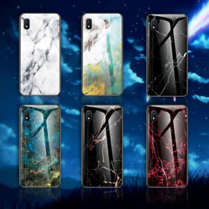 For Samsung Galaxy A10 A20E A11 A21 A51 Silicone Case Marble Glass Back Cover