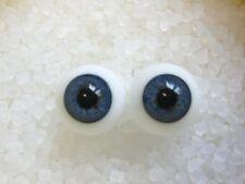Glasaugen  Gr.  18 mm, Reborn, blau (große Iris)