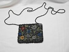 Beaded Flower Purse with Beaded Strap