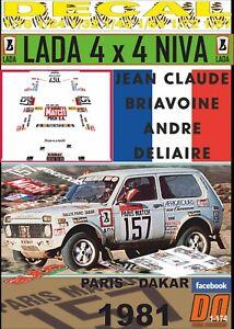 DECAL LADA NIVA JEAN-CLAUDE BRIAVOINE PARIS DAKAR 1981 (09)
