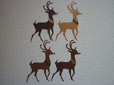 PACK OF 8 LARGE SIZZIX REINDEER  DIECUTS