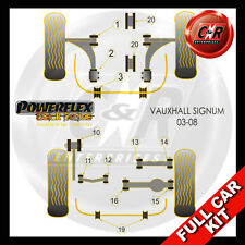 Vauxhall Opel Signum 03-08 Powerflex Black Kit R.Up Arm Out Bush47mm 1Pce ARBMnt