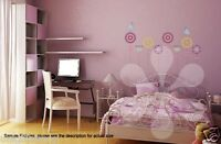 Flower & Birds Wall Decal Room Stickers Living Room Bedroom Home Decor