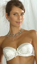 Splendour Hestia Silk Mix Ivory Strapless Multi Way Bra UK 34C EU 75C  RRP £29