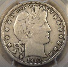 1904-O Barber Half Dollar 50c PCGS Certified F12