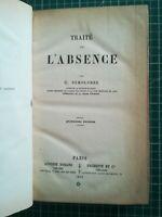 Code Napoléon Demolombe 1870 4ème Ed. T2 Traité de l'Absence