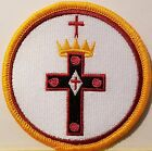 Freemason Symbol Embroidered Iron-On Patch Masonry Emblem Mason Version IV