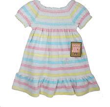 BNWT JUICY COUTURE Bébé Fille Rose Robe Jaune & Pantalon Set Taille Âge 18-24 mois