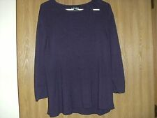 ladies requirements size 2x purple 3/4 sleeve sweater