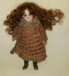 ANTIQUE CABINET SIZED BISQUE HEAD COMPOSITION BODY DOLL ALL ORIG GERMANY $199.99