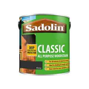 5L Sadolin Classic Woodstain Ebony