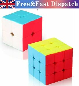 2-3 Level Magic Cube Rubix Rubik Puzzle Super Smooth Fast Speed Cube No Sticker