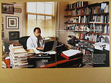 2002 Henry Louis Gates Jr. office photo IBM ThinkPad computer print Ad