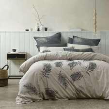 BIANCA AIRLIE LINEN Faether Design King Size Bed Doona Duvet Quilt Cover Set NEW