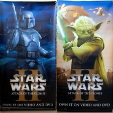 Set of 2 (3' x 6') STAR WARS ATTACK OF THE CLONES Promo Vinyl Banners Yoda