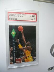 1992 Classic 4 Sport Shaquille O'Neal ROOKIE RC #1 PSA 10 GEM MINT
