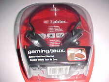 Labtec Stereo Gaming Behind the Head Headset 980230 0403 Black Micro NCAT 2  New