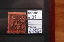 FRANCOBOLLI FRANCIA USATI N. 91 (A16381)