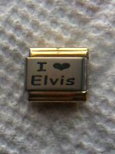 """I LOVE ELVIS""  9MM ITALIAN  CHARM"" KING OF ROCK AND ROLL, MUSIC,GRACELAND"