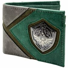 Official Legend of Zelda Link Silhouette & Shield Green ID & Card Wallet*SECOND*