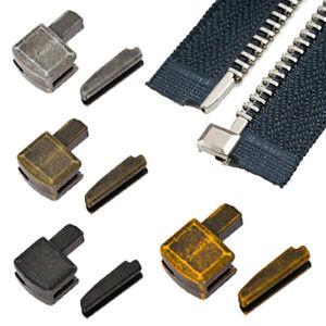5 Sets Sewing Zipper Metal Bottom Open End Stoppers Stopper Zipper Repair Making