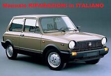 Autobianchi A112 1969/1986 Manuale Riparazioni OFFICINA ITALIANO Abarth 70 Hp