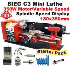 SIEG C3 /180x350mm Variable Speed Mini Hobby Lathe  Starter Pack