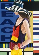 ANNE Bernard: Femme 9 Imagen TERMINADA 50x70 Mural Mujer MODE moderno