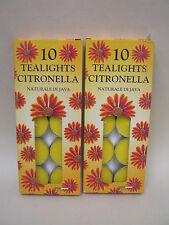 New Citronella Tealights Candles Fragranced Tea Lights 2 pks x10