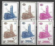 Belgium stamps 1954 OBP SP355-SP360 MNH VF TRAIN stamps
