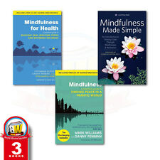 Mindfulness and Meditation 3 Book Set Collection, Mindfulness for Health, New PB