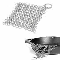 Edelstahl Gusseisen Reiniger Chainmail Scrubber Home Kochgeschirr Küchenwerkzeug