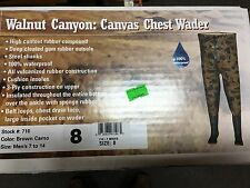 PRO LINE CAMO CANVAS CHEST WADER #710 WALNUT CANYON NEW MEN'S SIZE 8 ,Women's 9