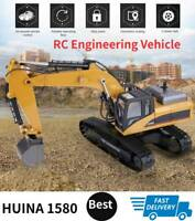 HUINA 1580 1:14 RC Excavator Alloy Bulldozer Engineering Building Vehicle Gift