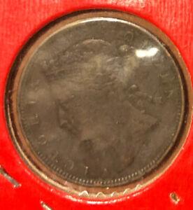 1883 Mauritius 2 Cents Bronze Coin Queen Victoria KM# 8.
