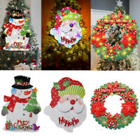 LED Glowing Xmas Theme Hanging Ornaments Christmas Home Hotel Door Wall