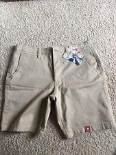 Arizona Flat Front Cargo Shorts Tan Khaki Color