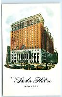 *The Statler Hilton Hotel New York City NYC NY Vintage Postcard B51