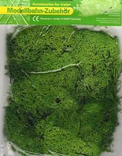 LIGHT GREEN LICHEN MOSS ~ SCENERY FOR MODEL RAIL HO, N & Z SCALE, BRAND NEW J62