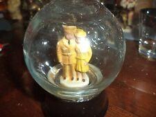ANTIQUE OR VINTAGE SNOWDOME GLOBE GLASS SPHERE ENGLISH COUPLE FIGURINE british